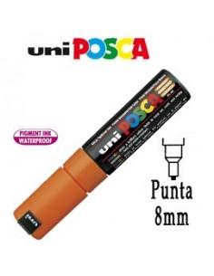Marcatore UNI POSCA PC8K p.scalpello 8mm arancio UNI MITSUBISHI