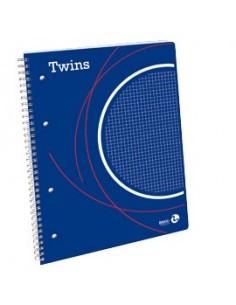 BLOCCO SPIRALATO TWINS C/FORI E MICROPERFORAZIONE 223x297mm 5mm 80fg 80gr BM