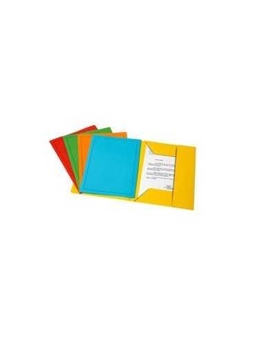 25 CARTELLINE 3 LEMBI C/STAMPA 200GR 24x32cm mix 5 colori Fraschini