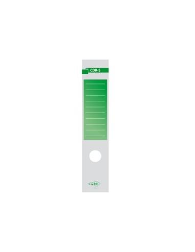 Busta 10 copridorso CDR-S carta adesiva verde 7x34