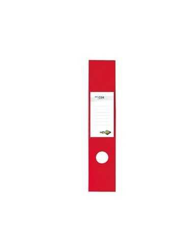 Busta 10 copridorso CDR PVC adesivi rosso 7x34