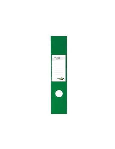 Busta 10 copridorso CDR PVC adesivi verde 7x34