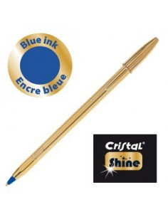 Scatola 20 penna sfera CRISTAL® SHINE GOLD medio 1