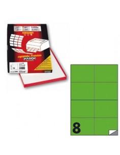 Etichetta adesiva C/512 verde fluo 100fg A4 105x74mm (8et/fg) Markin