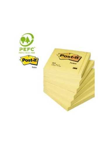 BLOCCO 100fg Post-it®Giallo Canary 76x76mm 654