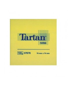 BLOCCO TARTAN 7676 GIALLO 76X76MM 100FG 63GR