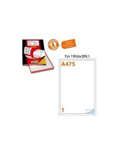 Etichetta adesiva A/475 bianca 100fg A4 199