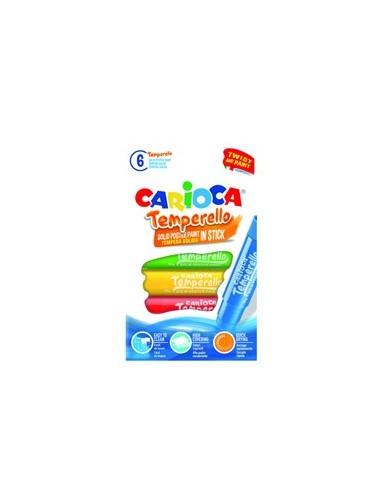 Astuccio 6 tempere Temperello colori assortiti Carioca