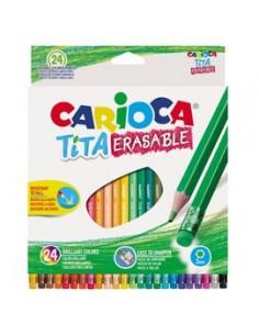 Astuccio 24 matite Tita cancellabile colori assortiti Carioca