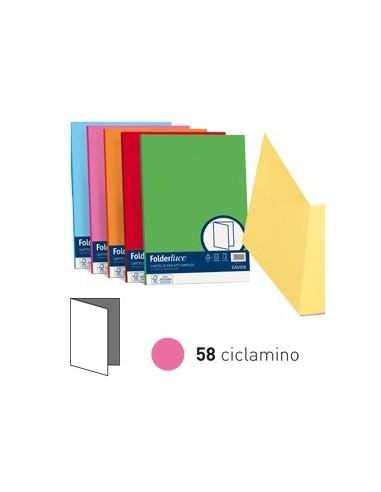 50 cartelline semplici LUCE 200gr 25x34cm ciclamino FAVINI