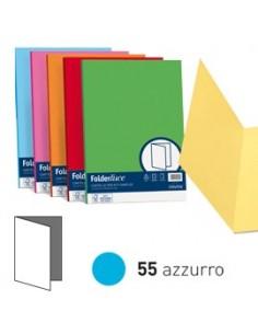 50 cartelline semplici LUCE 200gr 25x34cm azzurro FAVINI