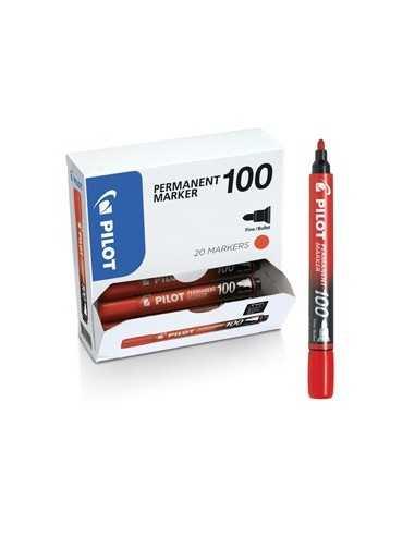 Bonus Pack 15+5 marcatore permanente 100 rosso p.tonda 4.5mm Pilot