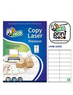Etichetta adesiva LP4W bianca 100fg A4 105x36mm (16et/fg) Laser Tico
