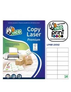 Etichetta adesiva LP4W bianca 100fg A4 105x42