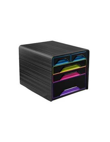 Cassettiera 5 cassetti misti nero/multicolore 7-213 Smoove Cep