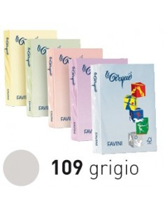 Cartelline in cartoncino 3 lembi Luce&Acqua Favini - assortiti - A50x434 (conf.25)