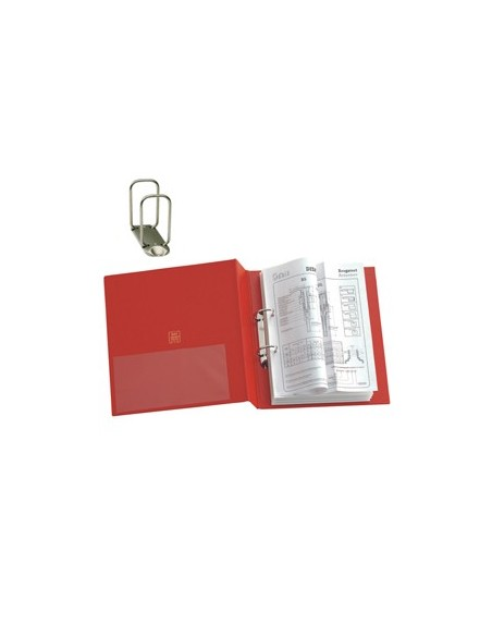 Raccoglitori Dossier Favorit - 4 anelli Ø 30 mm R 30x42 cm - nero - 100460473