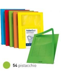 10 cartelline SIGNO con finestra 140gr 22x31cm pistacchio FAVINI