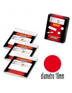 Etichetta adesiva rosso tonda Ø18mm (10fogli x 42etichette) Markin