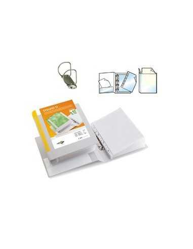 Raccoglitore STELVIO TI 40 A4 2D 22x30cm bianco personalizzabile SEI ROTA