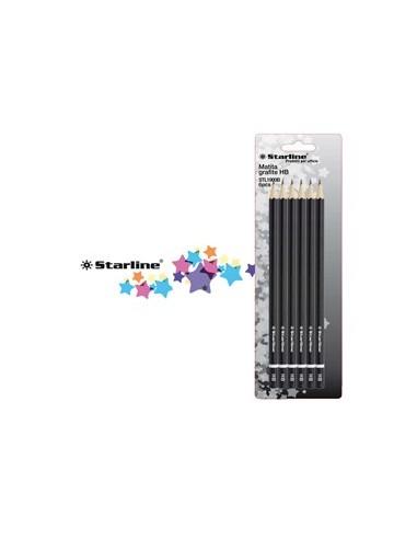 BLISTER 6 MATITE GRAFITE HB STARLINE