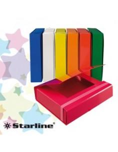 CARTELLA PROGETTO DORSO 5CM C/ELASTICO ROSSO STARLINE