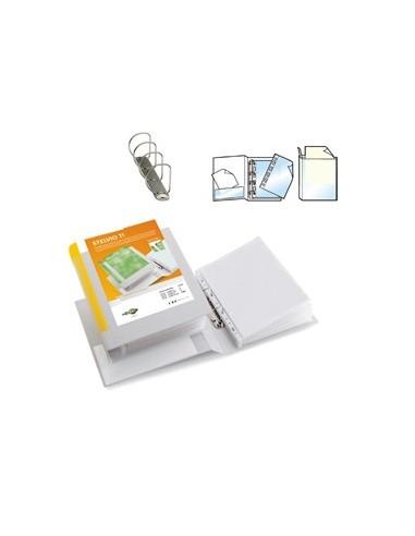Raccoglitore STELVIO TI 50 A4 4D 22x30cm bianco personalizzabile SEI ROTA