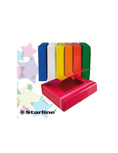 CARTELLA PROGETTO DORSO 3CM c/elastico BIANCO STARLINE