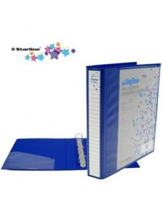 Raccoglitore KingShow 65 A4 4D blu 22X30cm personalizzabile STARLINE