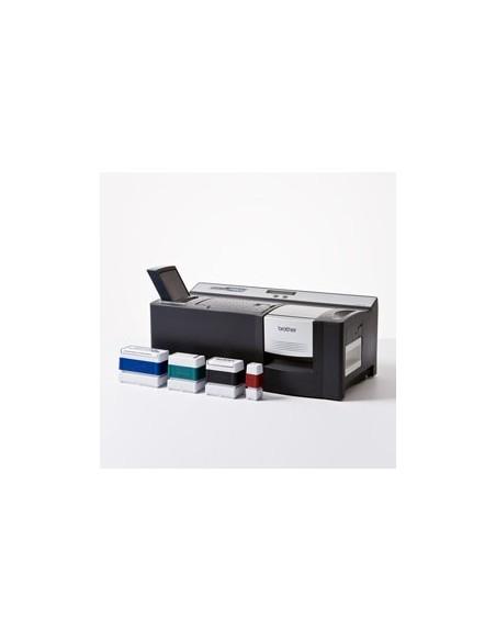 Etichette Dymo D1 Durable Dymo - 12 mm x 3 m - bianco/rosso - 1978366