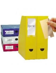Busta 12 portaetichette PPL adesive trasparenti 35x102mm 10325 3L