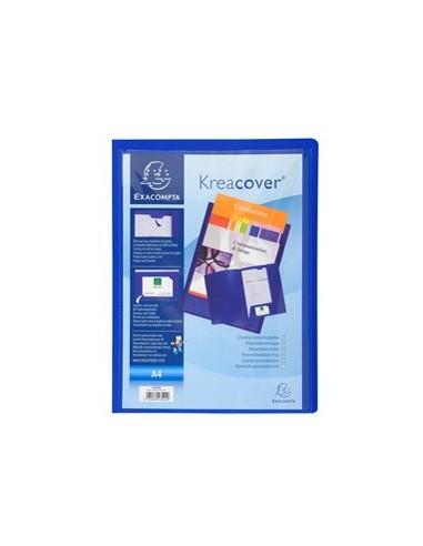 Cartella di presentazione in PP 2 alette blu. Kreacover A4 Exacompta