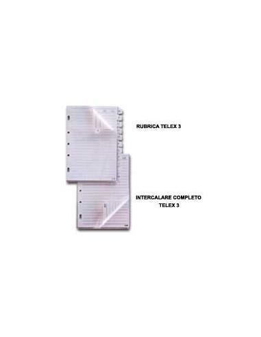 RUBRICA A-Z PER TELEX 3 e COMBI 2000 15X21CM (A5)