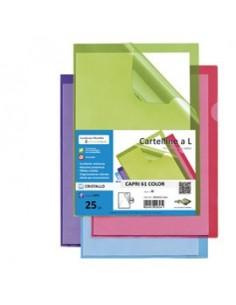 25 cartelline a L azzurro CAPRI 61 color sei rota