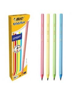 Scatola 12 matite Evolution Stripes BIC