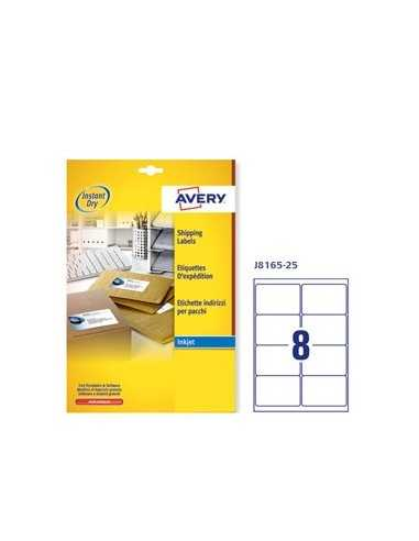Etichetta adesiva J8165 bianca 25fg A4 99