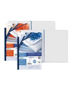 Portabiglietti da visita in PVC Favorit - 4 tasche 80 scomparti - 11x25,5 cm - nero - 100460539