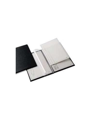 PORTA MENU G in PVC 2+2 TASCHE NERO 22X30CM (A4)