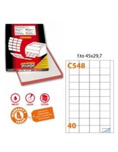 Etichetta adesiva C/548 bianca 100fg A4 45x29