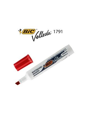 Pennarello VELLEDA 1791 punta scalpello whiteboard rosso BIC®