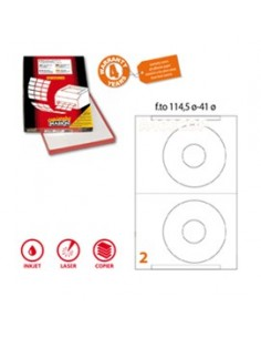 Etichetta adesiva A/461 bianca 100fg A4 x CD Ø114