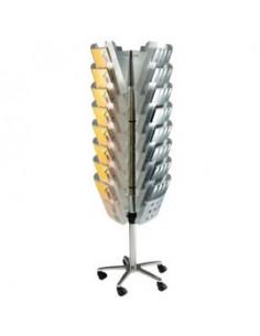 Portacenere esterni Infinity Rubbermaid-Gettasigarette-8000 sigarette-nero-101cm-Ø 40cm-9W34-00-BLA