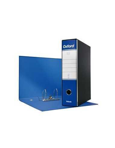 Registratore OXFORD G85 blu dorso 8cm f.to protocollo ESSELTE