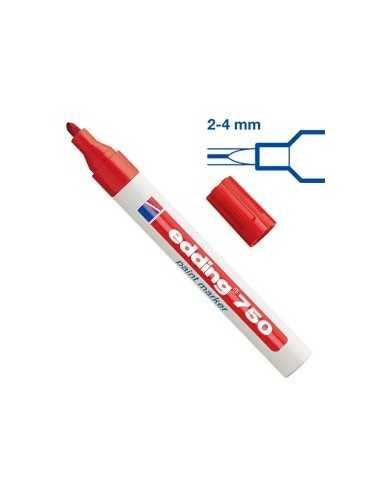 Marcatore EDDING 750 punta media vernice rosso