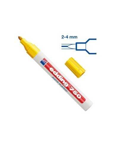 Marcatore EDDING 750 punta media vernice giallo