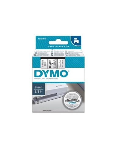 NASTRO DYMO TIPO D1 (9MMX7M) NERO/TRASPARENTE 409100