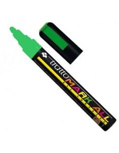 Marcatore MARK ALL punta tonda verde fluo TRATTO