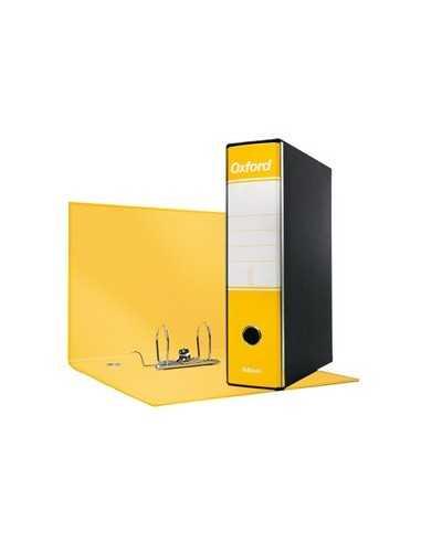 Registratore OXFORD G83 giallo dorso 8cm f.to commerciale ESSELTE