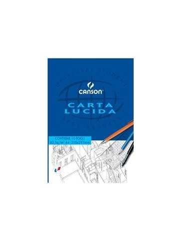 BLOCCO CARTA LUCIDA MANUALE 210x297mm 10FG 80GR CANSON