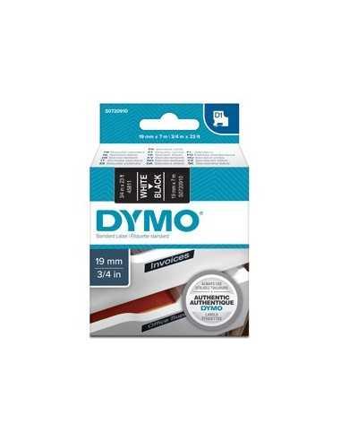 NASTRO DYMO TIPO D1 (19MMX7MT) BIANCO/NERO 458110